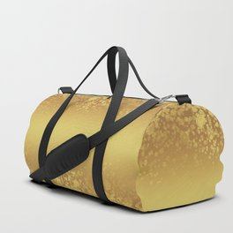 Chic Stylish Elegant Gold Glitter Confetti Duffle Bag