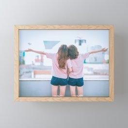 Young Lesbian Couple Framed Mini Art Print