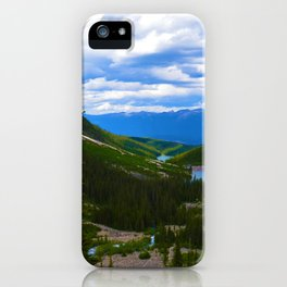 Looking over lower Geraldine Lakes in Jasper National Park, Canada iPhone Case