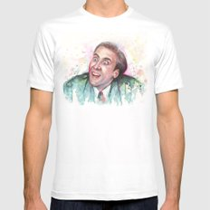 Nicolas Cage You Don't Say Geek Meme Nic Cage X-LARGE White Mens Fitted Tee