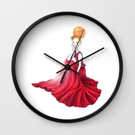 Velvet Christmas Wall Clock
