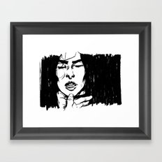 Gnashing Framed Art Print