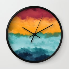 Storm at Coast Wall Clock