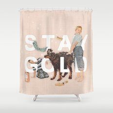 Stay Gold Shower Curtain