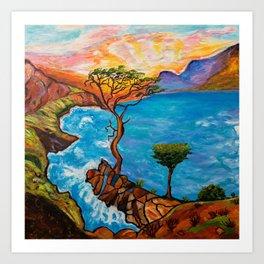 Sunset at Torrey Pines Art Print