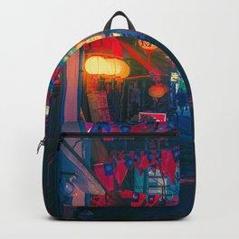 Vibrant Scene - Tokyo Japan Night Photography Backpack