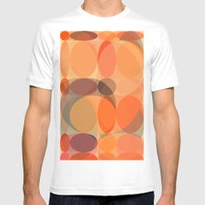 Faded Lights MEDIUM White Mens Fitted Tee