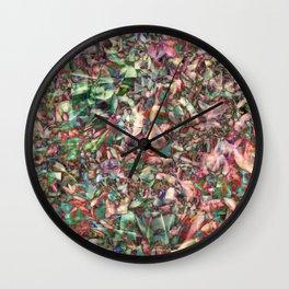 Polychromatic Succulent Wall Clock