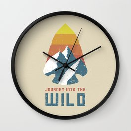 Journey Into the Wild Wall Clock