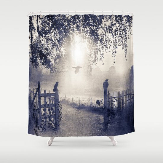 untitled  (colour option) Shower Curtain