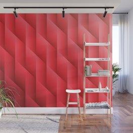 Gradient Red Diamonds Geometric Shapes Wall Mural