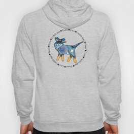 Peace Love and Cattle dogs Blue Hoody