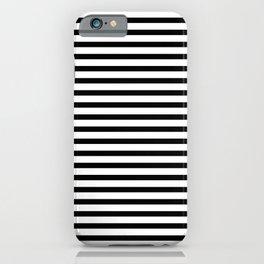 Horizontal line. Black and White. Minimalism. Stripes. Lines. iPhone Case
