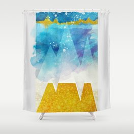 geometric 2 - Happy Winter Shower Curtain