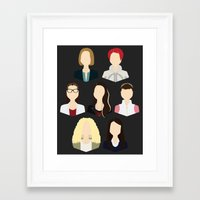 orphan black Framed Art Prints featuring Orphan Black Clone Club by Loverly Prints