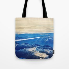 Airplane above the Clouds I Tote Bag