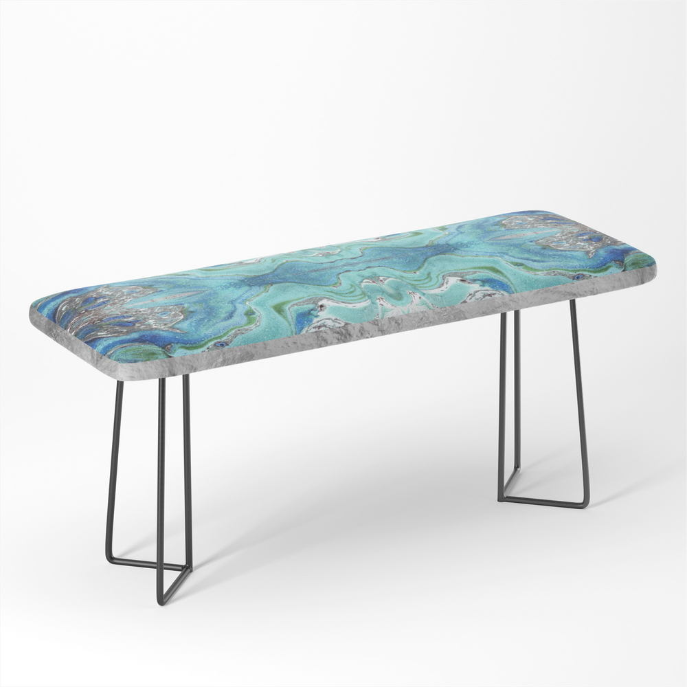 Blue_Marble__Silver_Framed_Bench_by_nataskk
