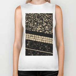 Terrazzo Pattern Black & Gold Sepia #1 #texture #decor #art #society6 Biker Tank