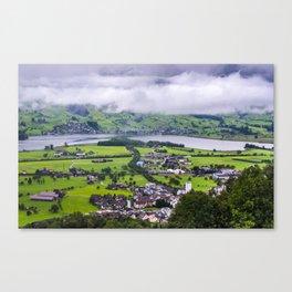 Lauerzersee During Storm - Schwyz Canton Canvas Print