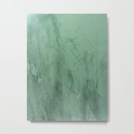 Green lines Metal Print