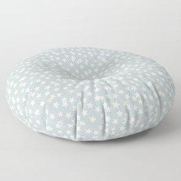 SILVER STARS CONFETTI Floor Pillow