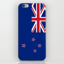 National flag of New Zealand - Authentic version to scale and color iPhone Skin