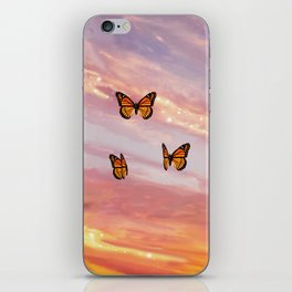Butterfly Sunset Aesthetic iPhone Skin