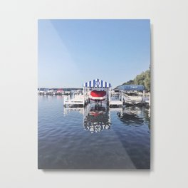 Boating on the Lake, Wisconsin Metal Print