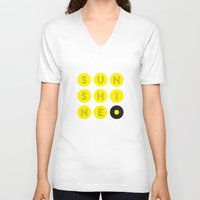sunshine V-neck T-shirts featuring Sunshine by KARNATARKA