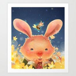 The Whispering Rabbit Art Print