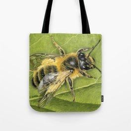 Honeybee On Leaf Tote Bag