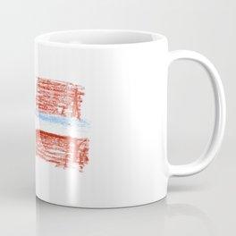 flag of norway 8 – Chalk version  snow,scandinavia,scandinavian,norwegian,oslo Coffee Mug