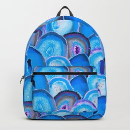 Geode Slices No. 2 in Electric Bubblegum Blue Backpack