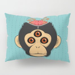 3rd Eye Chimp & Psychedelic Mushrooms Pillow Sham