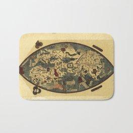 Genoese World Map (1457) Bath Mat