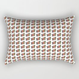 Narrowboat art Jugs pattern Rectangular Pillow
