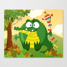 Crocodile - Kyte flyiing in September Canvas Print
