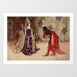 Bowing to the princess Art Print