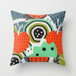 Fruity abstraction Throw Pillow