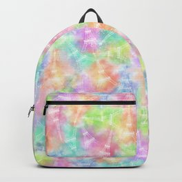 Eiffel Tower Rainbow Pattern Backpack