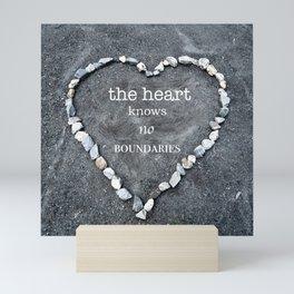 The Heart Knows No Boundaries Mini Art Print