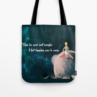 le petit prince Tote Bags featuring Le Petit Prince by SmallWheel