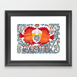 Let's Fly Together Framed Art Print
