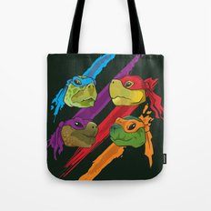 Turtle Heads Tote Bag