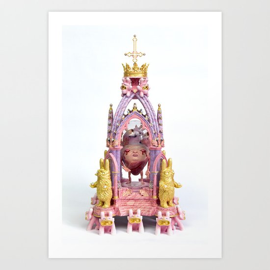 Reliquary of the Sacred Heart Art Print