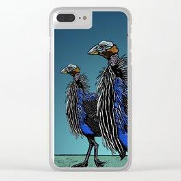 Exotoc birds - Vulturine Guineafowl Clear iPhone Case