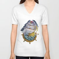 sailor V-neck T-shirts featuring Sailor by Jeef