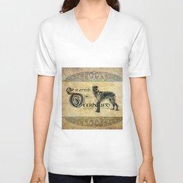 Scottish Deerhound Antique A Unisex V-Neck