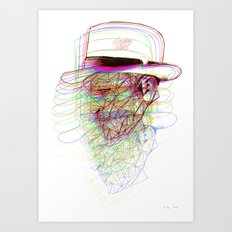 Happy Hat Art Print