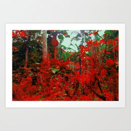 Singapore Bot. Garden 1 - RED Art Print